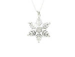 Silver Ice Snowflake Necklace
