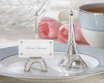 Eiffel Tower Silver-Finish Place Card/Holder (set of 4)