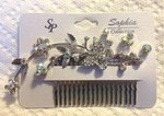 Floral & Butterfly Rhinestone Hair Comb
