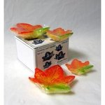 Multi Color Maple Floating Candles - Pkg 4