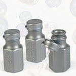 Silver Hexagon Bubble Bottles - Pkg 48