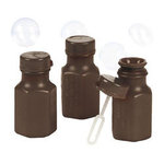 Mini Hexagon Brown Bubble Bottles - Pkg 48