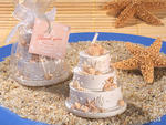 Beach Theme Scented Wedding Cake Candle