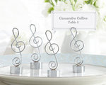 Silver-Finish Music Note Place Card/Photo Holder (Set of 4)