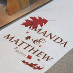 Fall Wedding Aisle Runner - Personalized!