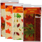 Autumn Plastic Table Cover - Pkg 1