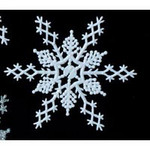 6 1/2 Glitter Snowflake Decoration - 4 Colors!