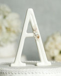 Beach Themed Porcelain Monogram Cake Topper