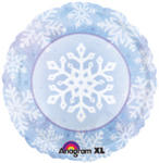 18 Snow Breeze Snowflake Design Mylar Balloon