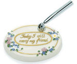 Pastel Floral Oval Pen Base - 4 Colors!