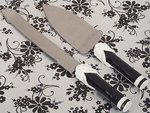 Black And White Collection Cake And Knife Set