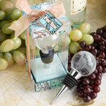 Glass Globe Design Wine Bottle Stopper Favor