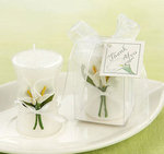 Calla Lily Elegance Vase Shaped Candle