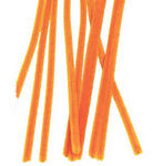 6mm Orange Chenille Stems - Pkg 25