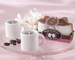 """Mugs & Kisses from Mr. & Mrs."" Ceramic Coffee Mug Candles (Set of Four)"