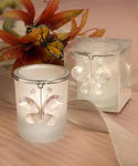 Clear Crystal Butterfly Design Candle Holder