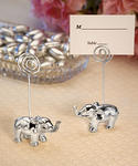 Chrome Elephant Place Card Holders