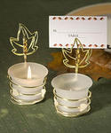Autumn-Inspired Place Card Holder Candle Favors