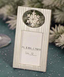 Snowflake Winter Place Card Frame