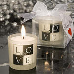 LOVE Design Candle Favor
