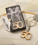 50th Anniversary Key Ring Favor