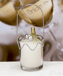 Champagne Themed Candle Favor
