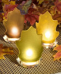 Festive Leaf Design Candle Holder Favors