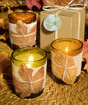 Natural Selections Fall Leaf Candle Favors