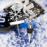 Chrome Snowflake Wine Corkscrew & Stopper