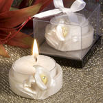 Pretty Calla Lily Design Favor Saver Candles