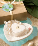 Natural Selections Collection Heart & Shell Design Candle