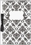 Black & White Damask Blank Wedding Programs - Pkg 50