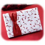 Red & White Vine Guest Book