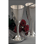 Joined Heart Silver Plated Toasting Goblets