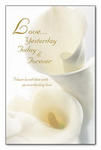 Love.... Calla Lily Blank Wedding Programs - Pkg 100