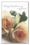 Marry My Friend Peach Roses Blank Wedding Programs - Pkg 100