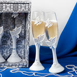 Fashion Butterfly Toasting Flutes