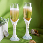 Finishing Touches Collection Beach Themed Toasting Flutes