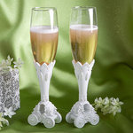 Fairy Tale Carriage Design Toasting Flutes