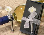 Calla Lily Bottle Stopper Wedding Favor