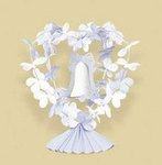 Soft Blue Fabric Flower & Bell Centerpiece