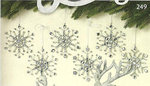 4.5 Beaded Acrylic Snowflake Ornament