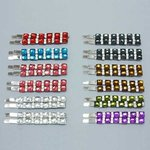 Square Design Rhinestone Bobby Pin - Colors!