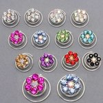 Mini Rhinestone Flower Design Hair Spiral - Colors!