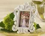 White Baroque Place Card Holder/Photo Frame