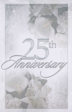 25th Wedding Anniversary Blank Programs - Pkg 100