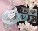 LOVE Glass Coasters (Set of 2)