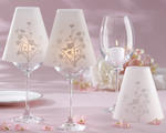 �Cherry Blossoms� Vellum Wine Glass Shade (Set of 24)