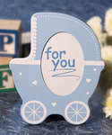 Cute Blue Baby Stroller Frame Favor