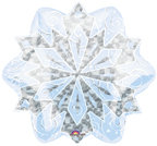 18 Snowflake Design Mylar Balloon